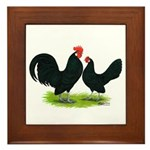 Black Dutch Pair Framed Tile