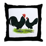 Black Dutch Pair Throw Pillow