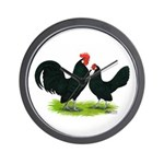 Black Dutch Pair Wall Clock