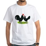 Black Dutch Pair White T-Shirt