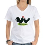 Black Dutch Pair Women's V-Neck T-Shirt