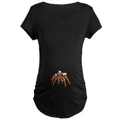 Tarantula Spider Belly Burster Maternity Dark T-Sh