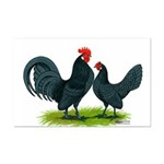 Blue Dutch Chickens Mini Poster Print