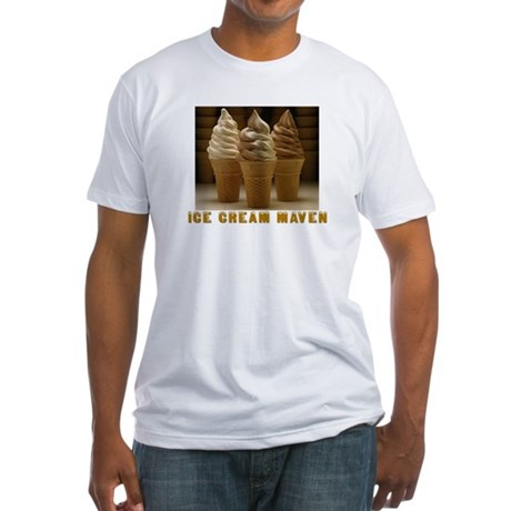 ICE CREAM MAVEN Fitted T-Shirt