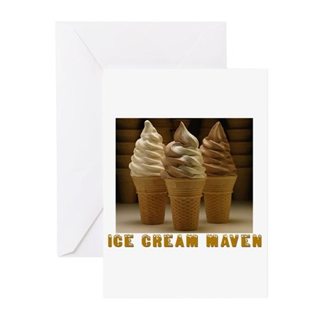 ICE CREAM MAVEN Greeting Cards (Pk of 10)