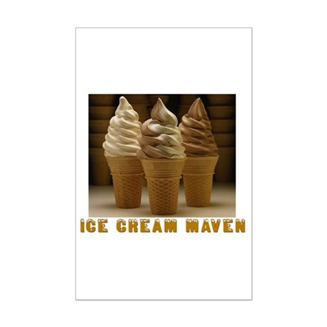 ICE CREAM MAVEN Mini Poster Print