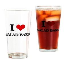 I Love Salad Bars Drinking Glass