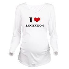 I Love Sanitation Long Sleeve Maternity T-Shirt