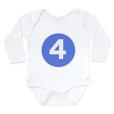 Unique 4 Long Sleeve Infant Bodysuit