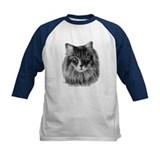 Long-Haired Gray Cat Tee