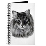 Long-Haired Gray Cat Journal