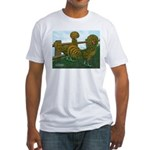 Golden Polish Chickens Fitted T-Shirt