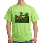 Golden Polish Chickens Green T-Shirt
