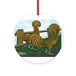 Golden Polish Chickens Ornament (Round)