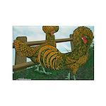 Golden Polish Chickens Rectangle Magnet