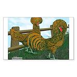 Golden Polish Chickens Rectangle Sticker