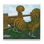 Golden Polish Chickens Tile Coaster
