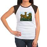 Golden Polish Chickens Women's Cap Sleeve T-Shirt