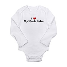 Cute I love design Long Sleeve Infant Bodysuit