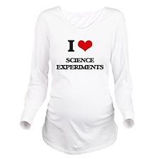 I Love Science Exper Long Sleeve Maternity T-Shirt