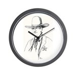 Pawnee Sheriff Wall Clock