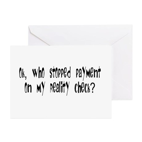 Reality Check Greeting Cards (Pk of 10)