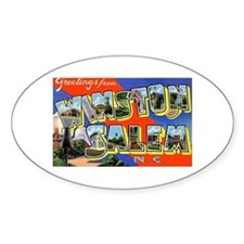 Winston-Salem North Carolina Oval Decal