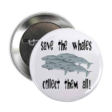 "Save the Whales 2.25"" Button (100 pack)"