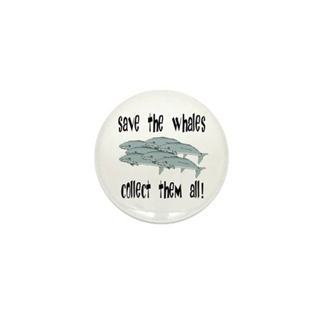 Save the Whales Mini Button (100 pack)