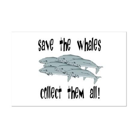 Save the Whales Mini Poster Print