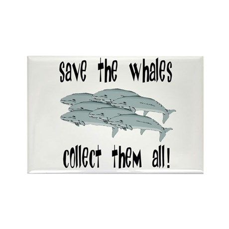 Save the Whales Rectangle Magnet (10 pack)