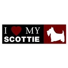 I LOVE MY SCOTTISH TERRIER Bumper Bumper Sticker