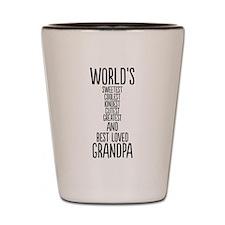 Best Loved Grandpa Shot Glass
