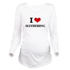 I love Slithering Long Sleeve Maternity T-Shirt
