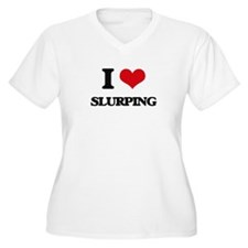 I love Slurping Plus Size T-Shirt