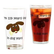 17 dog years 4 Drinking Glass