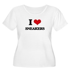 I love Sneakers Plus Size T-Shirt
