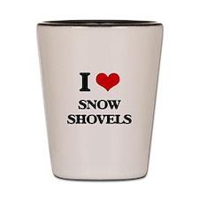 I love Snow Shovels Shot Glass