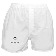 Personalize Smiley Face Boxer Shorts