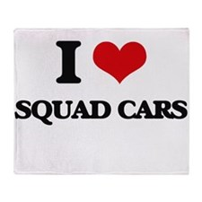 I love Squad Cars Throw Blanket