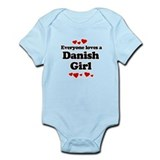 Everyone loves a Danish girl Infant Bodysuit
