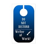 Writer At Work Rectangle Decal