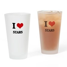 I love Stars Drinking Glass