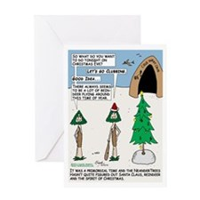 Prehistoric Christmas Clubbing Greeting Cards