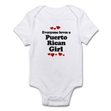 Everyone loves a Puerto Rican girl Infant Bodysuit