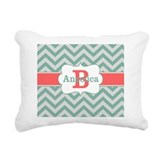 Coral and mint Throw Pillows