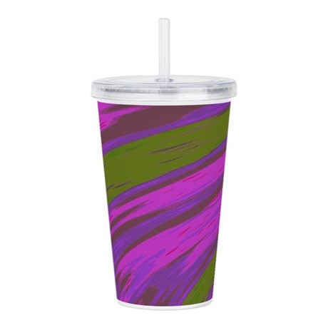 Bright Purple Swish Ab Acrylic Double-wall Tumbler