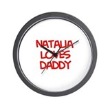 Natalia Loves Daddy Wall Clock