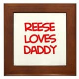 Reese Loves Daddy Framed Tile