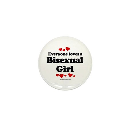 Everyone loves a Bisexual Girl Mini Button (100 pa